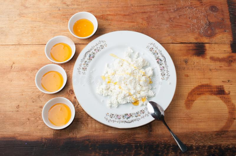 Dietary low calorie cottage cheese with honey tasty and healthy download dietary low calorie cottage cheese with honey tasty and healthy snack stock image sisterspd