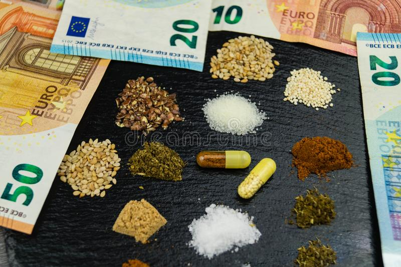 Dietary nutritional supplements royalty free stock image