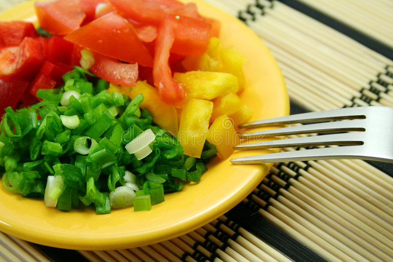 Dietary salad royalty free stock photos
