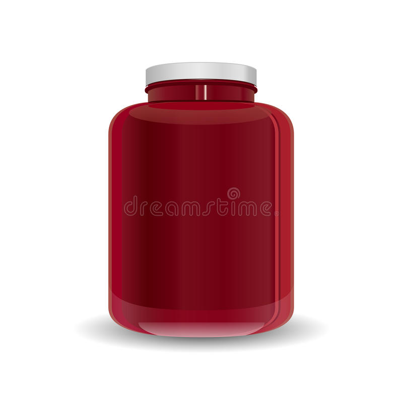 Download Dietary Supplement Red Bottle Stock Vector - Image: 36430238