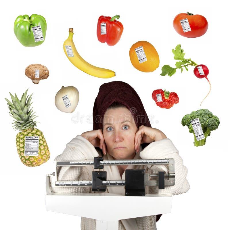 Dieter com alimentos saudáveis imagem de stock