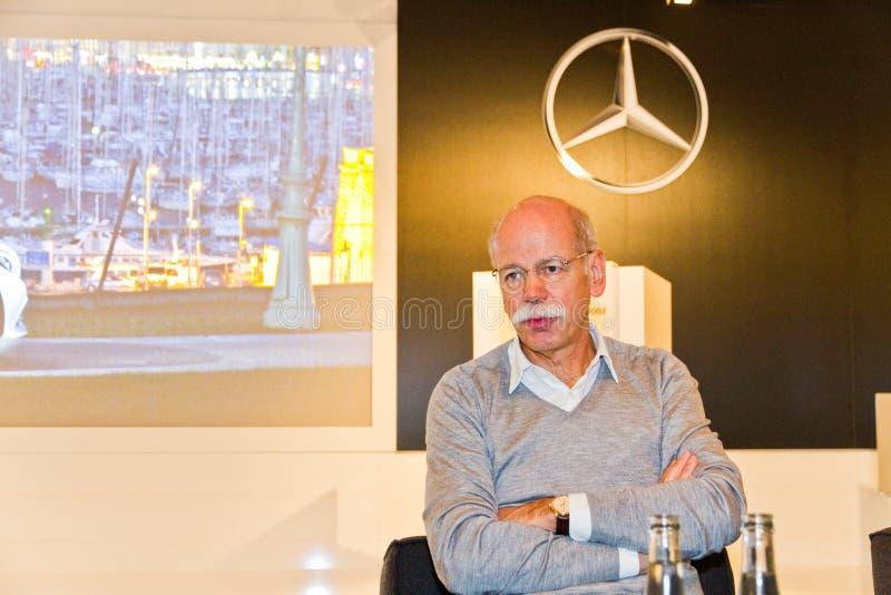 Dieter Zetsche, главный исполнительный директор Daimler стоковое фото