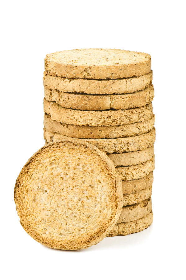 Dietetic biscuits. On white background stock photos