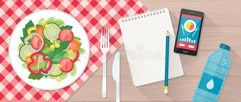 dietetyczne jedzenie ilustracji