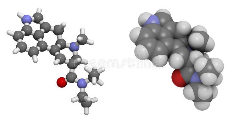 Diethylamide di acido lisergico (lsd) royalty illustrazione gratis