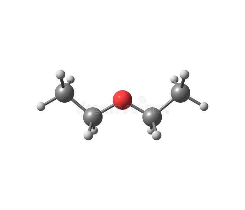 Diethylethermolekül lokalisiert auf Weiß vektor abbildung