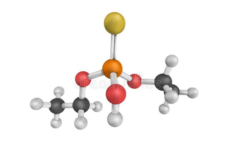 Diethylthiophosphoriczuur, als DETP ook wordt bekend die 3d model stock afbeelding