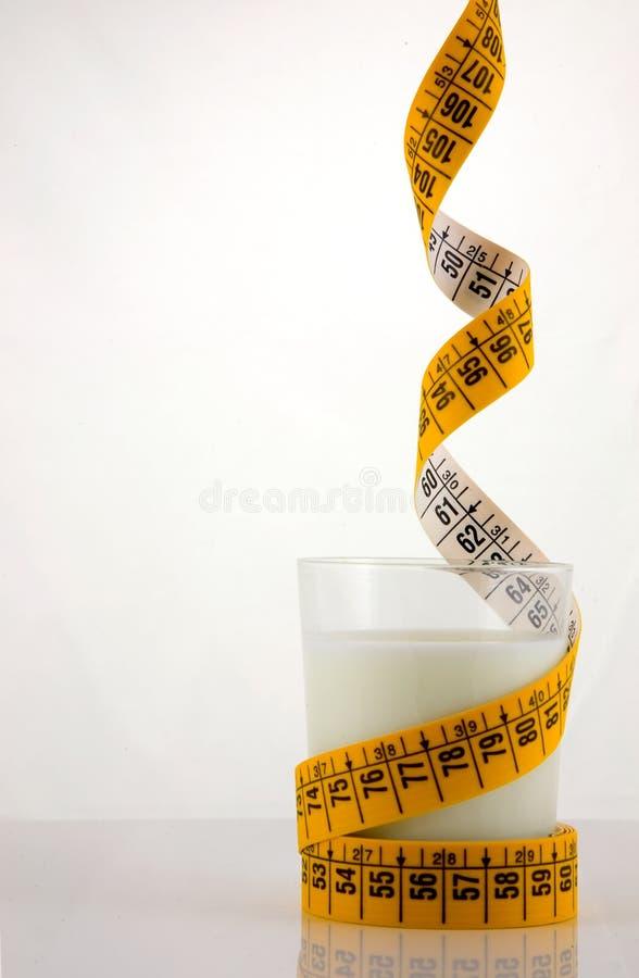 dieting молоко тучной еды низкое стоковое фото