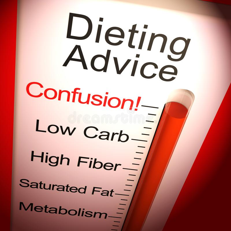 Tips And Tricks To Encourage Better Nutrition: Advice Help Support And Tips Signpost Stock Illustration