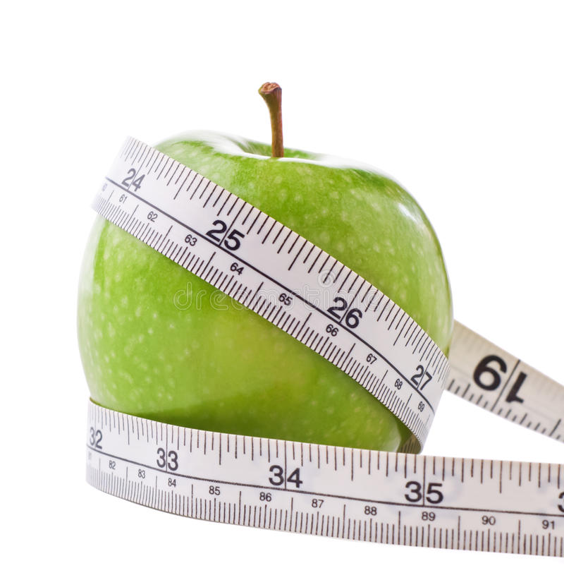Free Dieting Apple Royalty Free Stock Photos - 18398138
