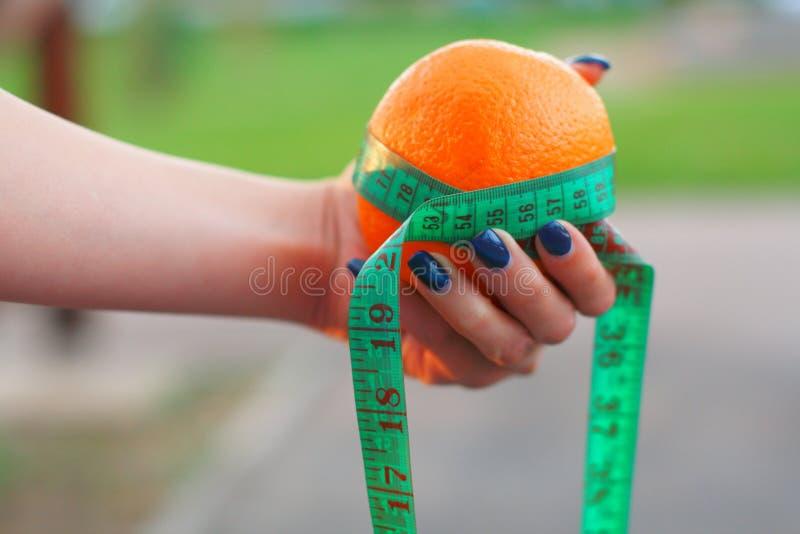 Dieting ciężar straty jedzenie zdjęcia stock