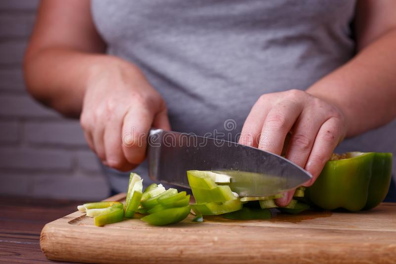 Dieting, healthy low calorie food, weight losing concept. Overwe stock photography