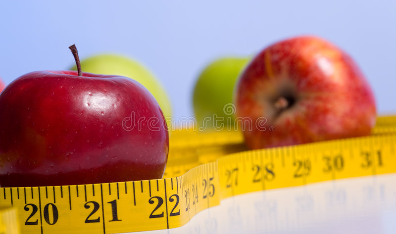 Download Dieting Items stock image. Image of copy, losing, apples - 5114649