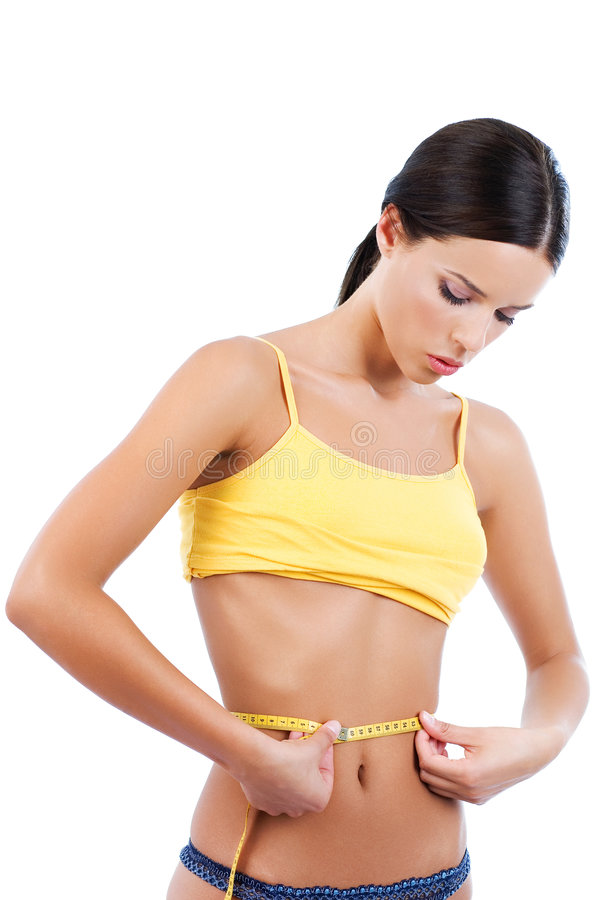 Dieting results stock images
