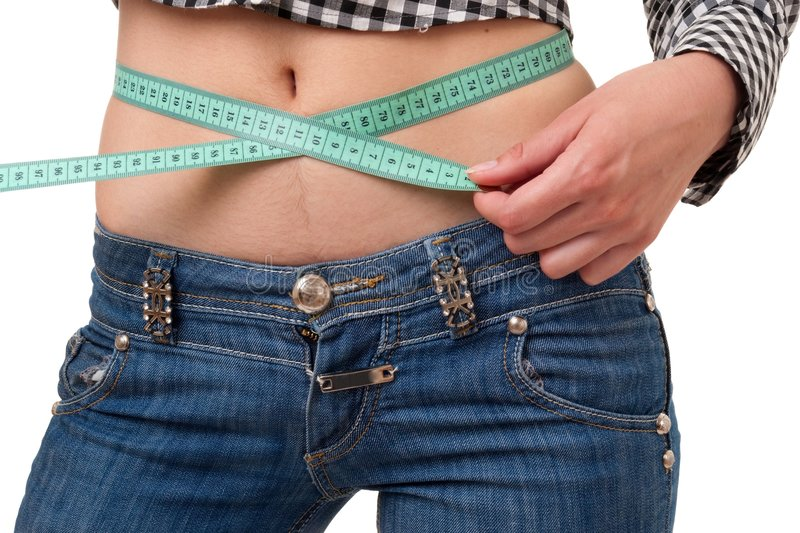Download Dieting Woman With Measuring Tape Stock Image - Image: 7064715