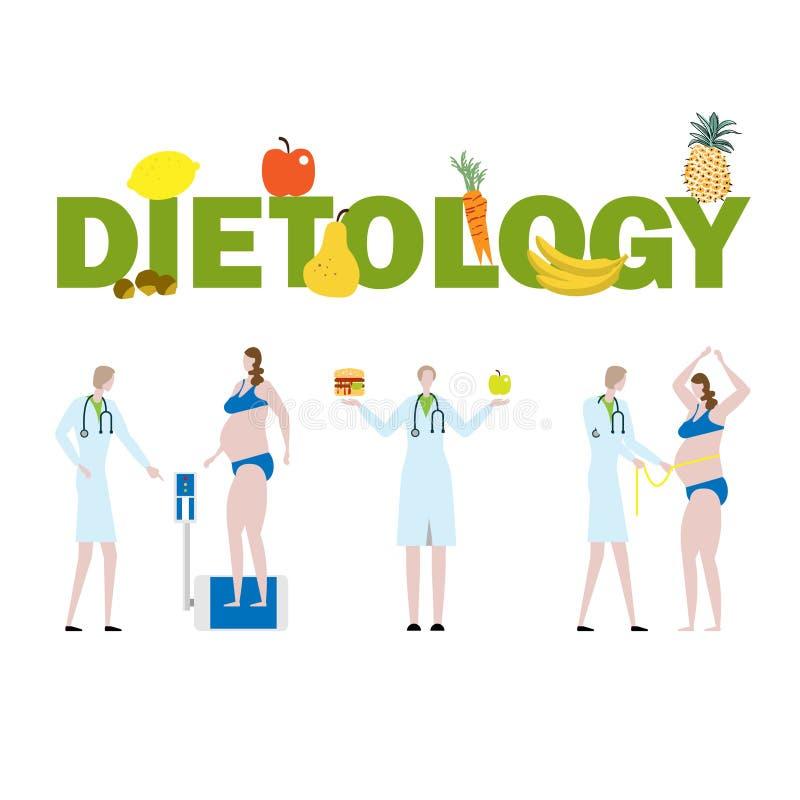 Dietology иллюстрация вектора