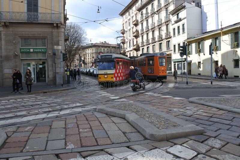Dietro il tram fotografia stock libera da diritti