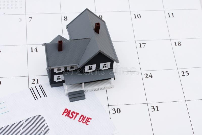 Dietro sui vostri pagamenti ipotecari immagine stock libera da diritti