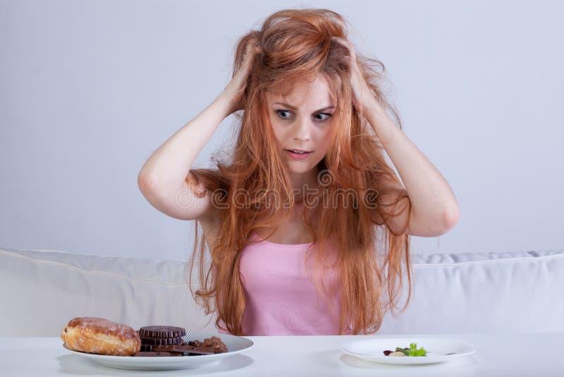Diety frustracja zdjęcie stock