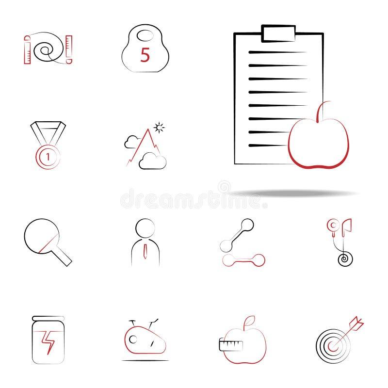 Diety ikona Sprawności fizycznych ikon ogólnoludzki ustawiający dla sieci i wiszącej ozdoby royalty ilustracja