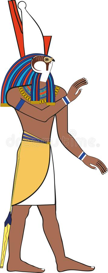 Dieu égyptien Horus illustration stock