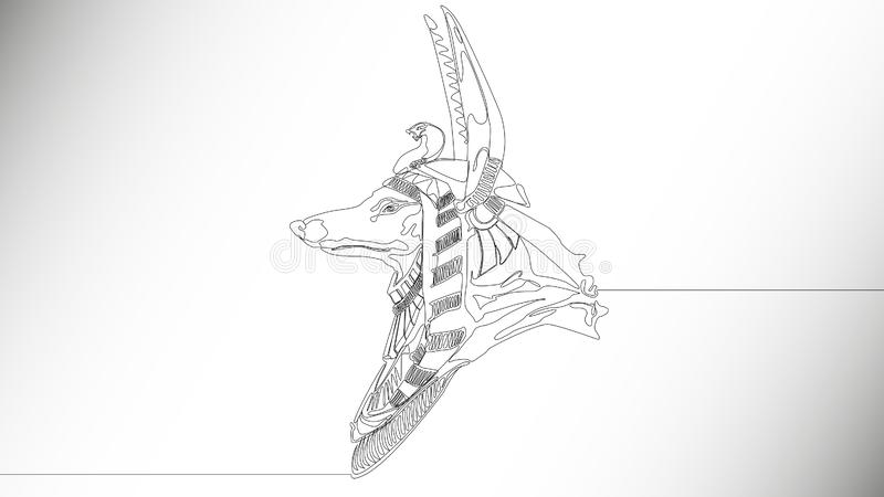 Dieu Anubis illustration stock