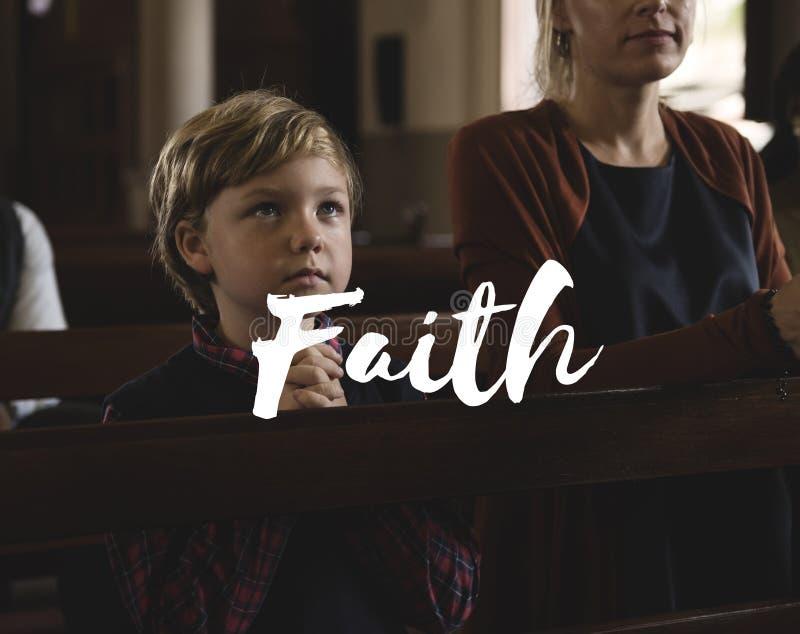 Dieu de culte croient la foi Word de religion images stock