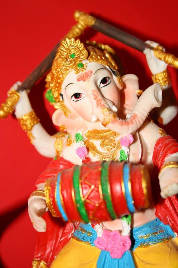 Dieu de Ganesh des débuts et des obstacles de franchissement photographie stock libre de droits