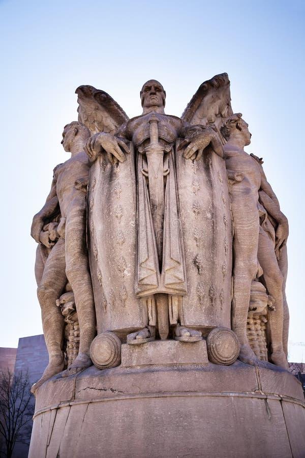 Dieu de guerre à ailes George Gordon Meade Memorial Civil War Statue Wa image libre de droits