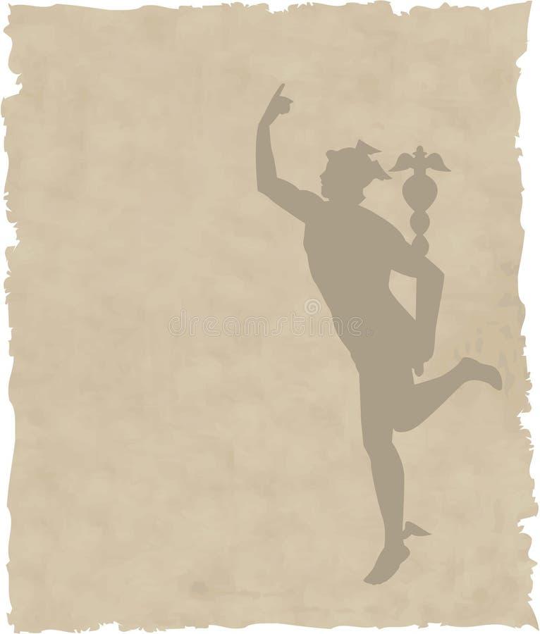 Dieu grec Hermes illustration de vecteur