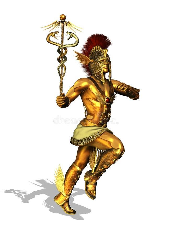 Dieu grec Mercury illustration de vecteur