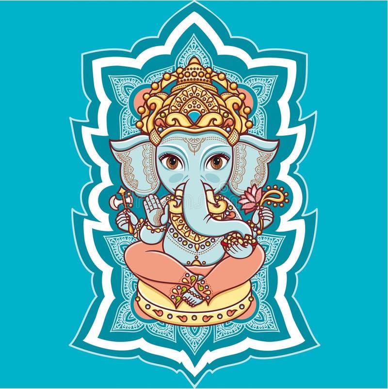 Dieu indou Lord Ganesh d'éléphant hindouisme images stock