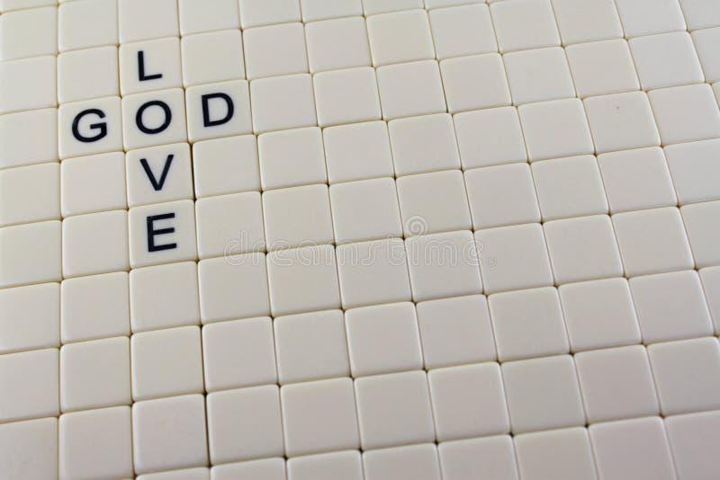 Dieu/mots croisé d'amour images libres de droits