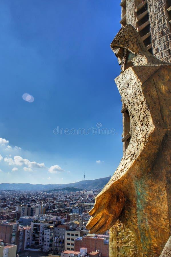 Dieu regarde vers le bas la ville image libre de droits