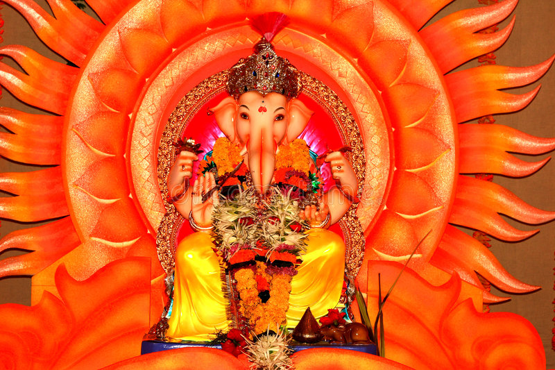 Dieu-Seigneur indien Ganesh-XII photos libres de droits