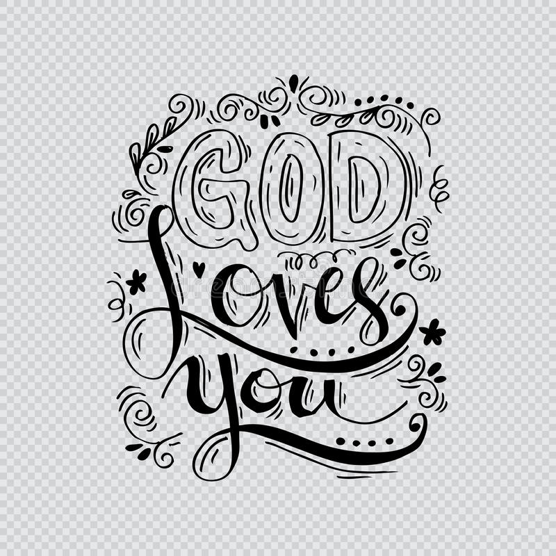Dieu vous aime illustration de vecteur