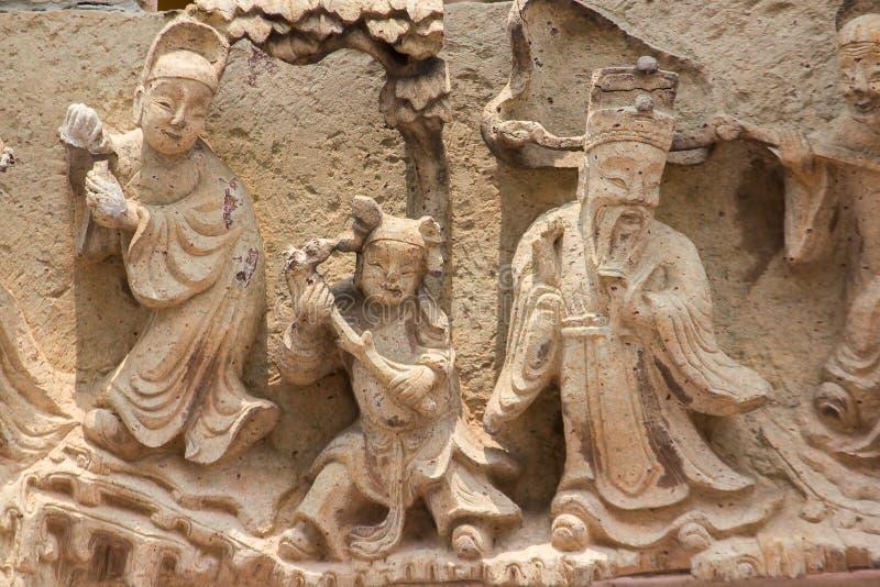 Dieux chinois découpés des pierres de style chinois images libres de droits