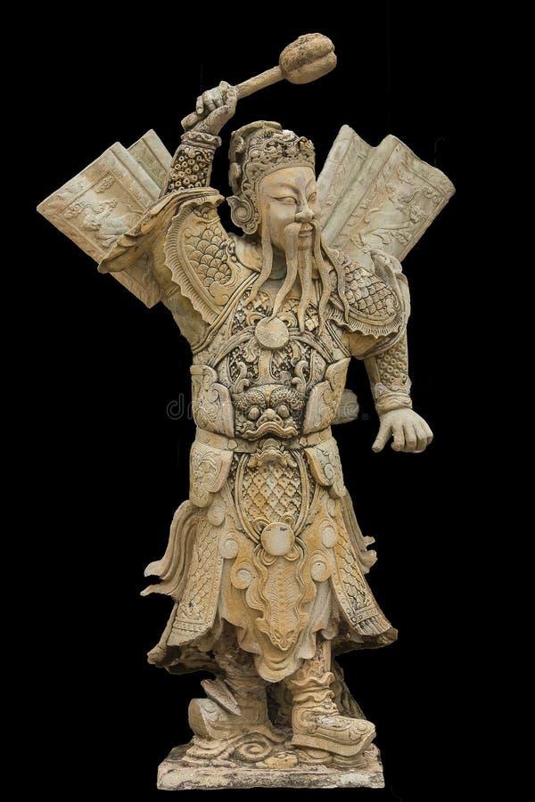 Dieux chinois découpés des pierres de style chinois image libre de droits