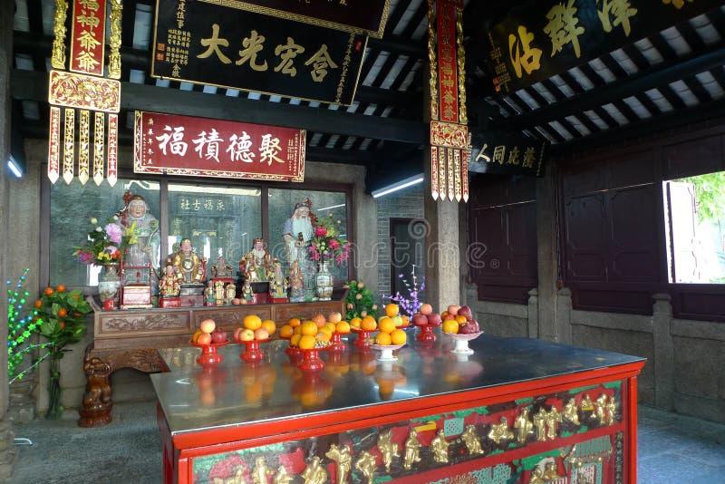 Dieux de terre chinois de temple de toitei de temple dans Macao Chine photos stock