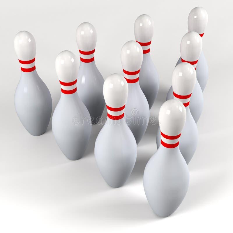 Diez contactos de bowling imagen de archivo