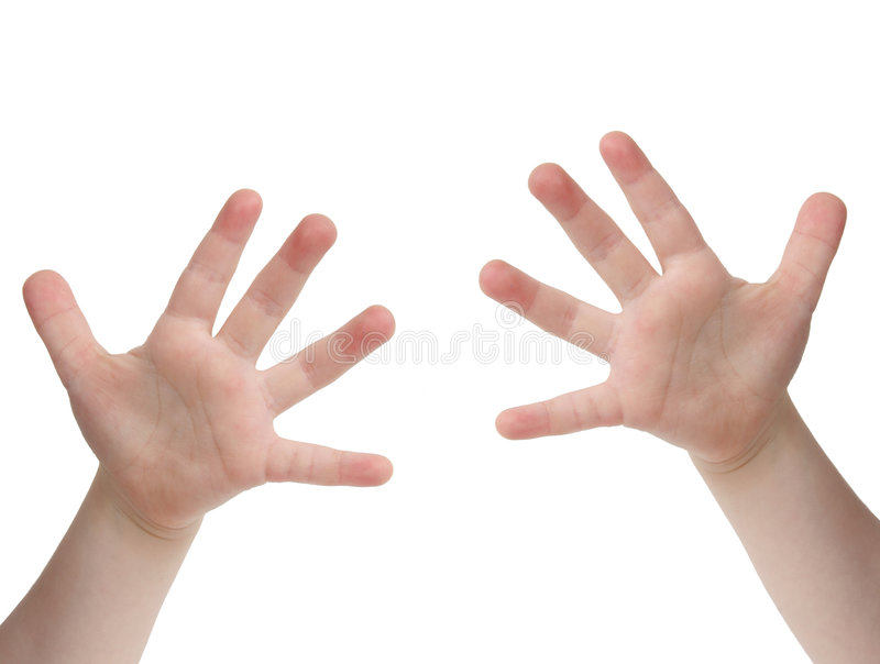 Diez dedos imagen de archivo