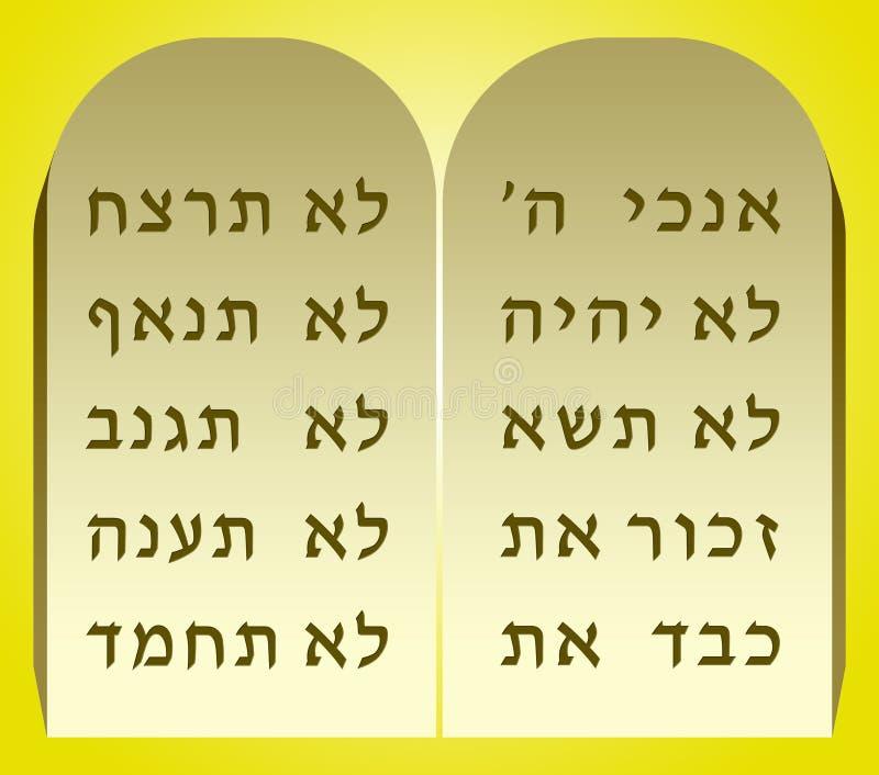 Diez mandamientos libre illustration
