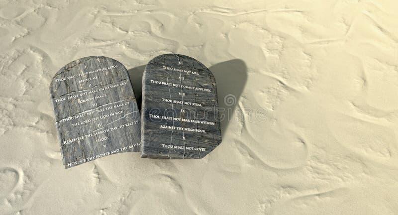 Diez mandamientos en el desierto libre illustration
