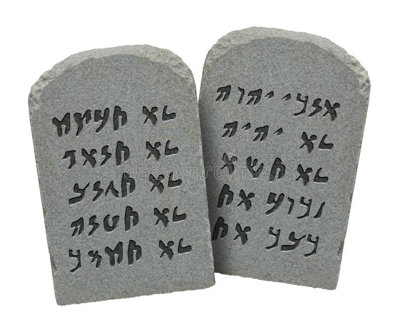 Diez mandamientos judíos imágenes de archivo libres de regalías