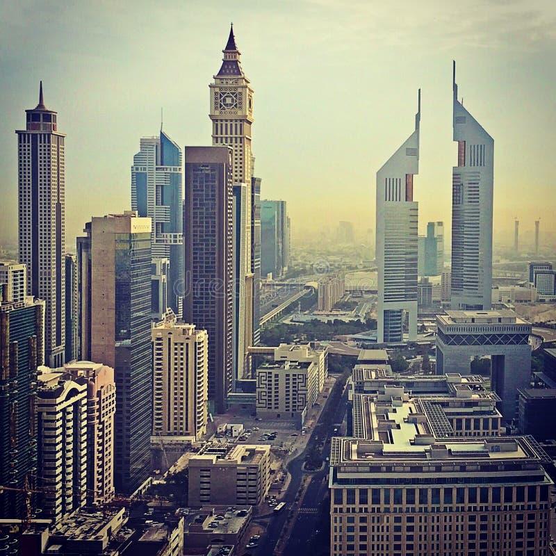 DIFC - Dubai UAE royaltyfri foto