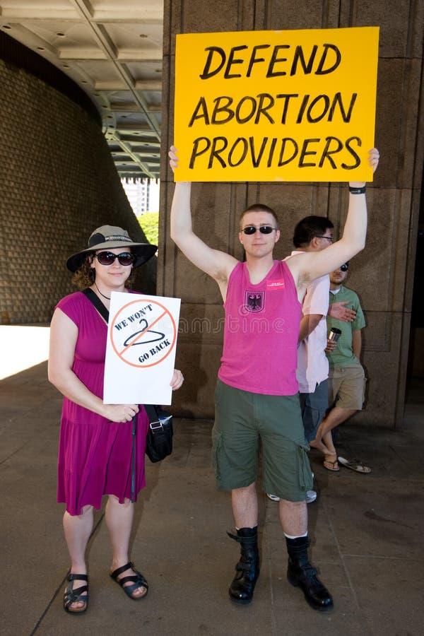 Difenda i fornitori di aborto fotografie stock