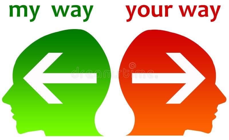 Diferença de opinião ilustração stock
