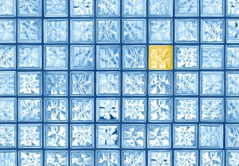 Diferença de vidro da telha ilustração royalty free