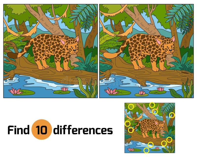 diferenças do achado ilustração royalty free