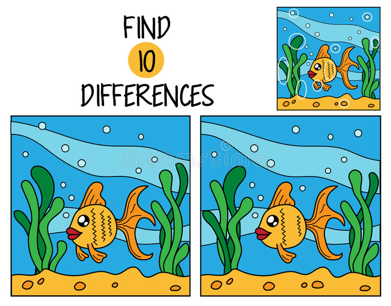 Diferenças do achado dez fotografia de stock